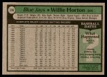 1979 Topps #239  Willie Horton  Back Thumbnail