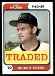 1974 Topps Traded #612 T  -  Luke Walker Traded Front Thumbnail