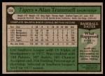 1979 Topps #358  Alan Trammell  Back Thumbnail