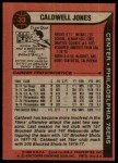 1979 Topps #33  Caldwell Jones  Back Thumbnail
