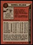 1979 Topps #47  Darnell Hillman  Back Thumbnail