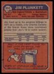 1973 Topps #355  Jim Plunkett  Back Thumbnail