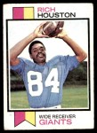 1973 Topps #391  Rich Houston  Front Thumbnail