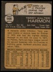 1973 Topps #166  Terry Harmon  Back Thumbnail