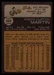 1973 Topps #552  J.C. Martin  Back Thumbnail