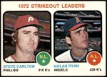 1973 Topps #67   -  Steve Carlton / Nolan Ryan Strikeout Leaders Front Thumbnail