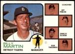 1973 Topps #323   -  Billy Martin / Art Fowler / Joe Schultz / Charlie Silvera / Dick Tracewski Tigers Leaders Front Thumbnail