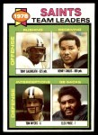 1979 Topps #451   Saints Leaders Checklist Front Thumbnail