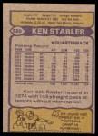 1979 Topps #520  Ken Stabler  Back Thumbnail