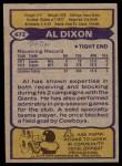 1979 Topps #472  Al Dixon  Back Thumbnail