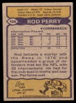 1979 Topps #106   -  Rod Perry All-Pro Back Thumbnail