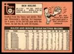 1969 Topps #451 YN Rich Rollins  Back Thumbnail