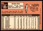 1969 Topps #636  Woodie Held  Back Thumbnail