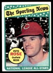 1969 Topps #424   -  Pete Rose All-Star Front Thumbnail