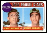 1969 Topps #358   -  George Lauzerique / Roberto Rodriguez A's Rookies   Front Thumbnail