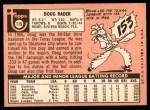 1969 Topps #119  Doug Rader  Back Thumbnail