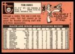 1969 Topps #223  Tom Dukes  Back Thumbnail