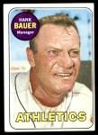 1969 Topps #124  Hank Bauer  Front Thumbnail