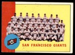 1963 Topps #417   Giants Team Front Thumbnail