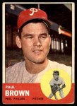 1963 Topps #478  Paul Brown  Front Thumbnail