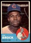 1963 Topps #472  Lou Brock  Front Thumbnail