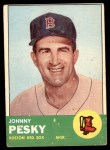 1963 Topps #343  Johnny Pesky  Front Thumbnail