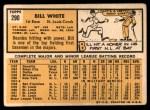 1963 Topps #290  Bill White  Back Thumbnail