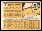 1963 Topps #46  Tommie Aaron  Back Thumbnail