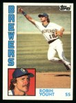 1984 Topps #10  Robin Yount  Front Thumbnail