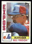 1984 Topps #111  Bill Virdon  Front Thumbnail