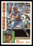 1984 Topps #647  Ron Roenicke  Front Thumbnail