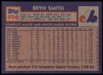 1984 Topps #656  Byrn Smith  Back Thumbnail