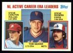 1984 Topps #708   -  Steve Carlton / Tom Seaver / Steve Rogers NL Active Career ERA Leaders Front Thumbnail