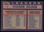 1984 Topps #712  Reggie Jackson / Graig Nettles / Greg Luzinski  Back Thumbnail