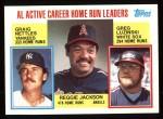 1984 Topps #712  Reggie Jackson / Graig Nettles / Greg Luzinski  Front Thumbnail
