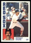 1984 Topps #720  Dwight Evans  Front Thumbnail