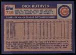 1984 Topps #736  Dick Ruthven  Back Thumbnail
