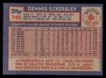 1984 Topps #745  Dennis Eckersley  Back Thumbnail