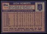1984 Topps #784  Leon Roberts  Back Thumbnail
