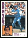 1984 Topps #255  Bruce Benedict  Front Thumbnail