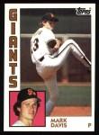 1984 Topps #343  Mark Davis  Front Thumbnail