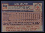 1984 Topps #472  Mike Brown  Back Thumbnail