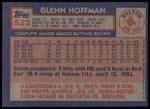 1984 Topps #523  Glenn Hoffman  Back Thumbnail