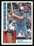 1984 Topps #528  Mark Brouhard  Front Thumbnail