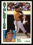 1984 Topps #567  Mike Heath  Front Thumbnail