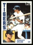 1984 Topps #42  Johnny Grubb  Front Thumbnail