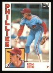 1984 Topps #43  Ron Reed  Front Thumbnail