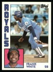 1984 Topps #155  Frank White  Front Thumbnail