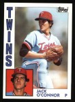 1984 Topps #268  Jack O'Connor  Front Thumbnail