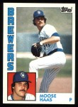 1984 Topps #271  Moose Haas  Front Thumbnail